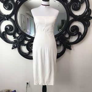 Express off white strapless dress size 3/4